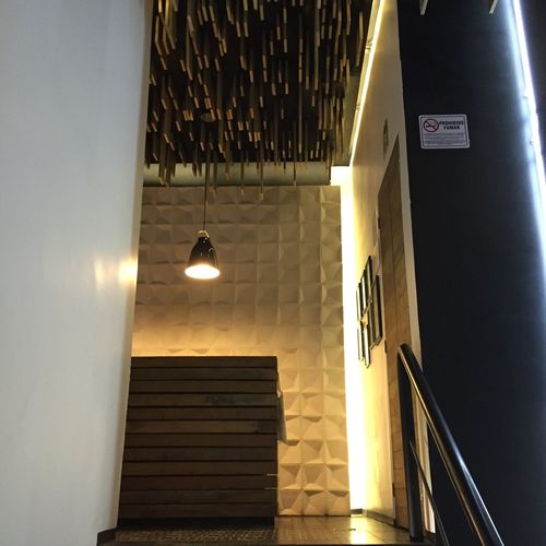 Drinks Bar Mexico City Birthday Reception Light Wall Architecture Design
