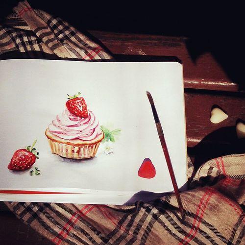 Акварельные вкусности) Watercolour Painting Sketching Chiscake Sweet Food Drawing Art Food Desertакварельныйрисунок акварель скетч. иллюстрация чизкейк вкусности сладости рисунки рисунок акварелью