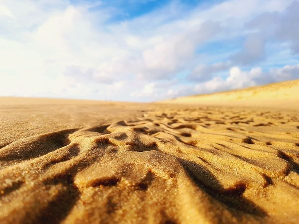 EyeEm Selects Sand Sand Dune Scenics Cloud - Sky Landscape Sky Day Outdoors Sea Beach Nature Beauty In Nature Lost In The Landscape