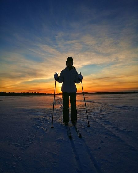 Huawei Huaweiphotography Honor9 Myhonor Ice Xcskiing Skiing Winter Sunrise 2017 Sweden Nature Landscape_photography Nature Photography Beach Full Length People Outdoors Landscape