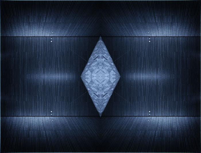 Close up of blue fabric