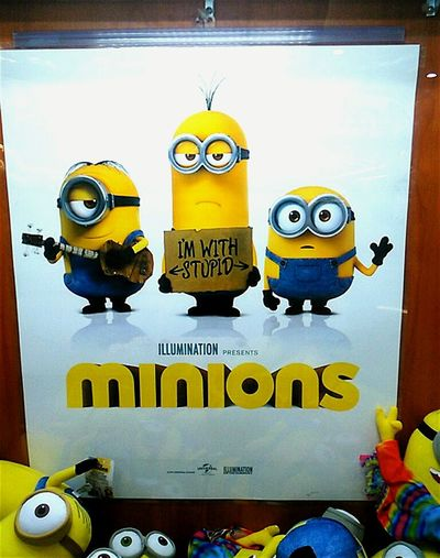 Minions Minions ™ Posters Illumination Entertainment Poster Minion  Despicable Me Minions Characters The Minions :) I'm With Stupid Advertising Signs Movie Poster MOVIE Minions 🍌🍌🍌🍌🍌 Minions ♥♥ Minions_mania Powered By Bananas Minionsworld Theminions Despicableme
