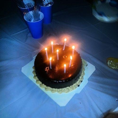 Nanas bday cake. Sunday night :) Ressecupcake Giantreesse Chocolate Penutbutter candles birthday