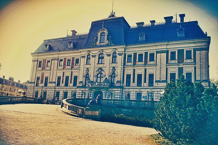 Poland Pszczyna Castle Walking To School  View Architecture Royal