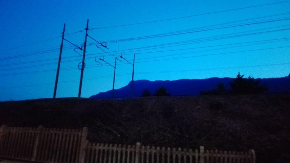 Traveling Car Travel Skay Blue Night Lights Blue Sky No Filters Or Effects No Filters  Hello World Popular Photos The Great Outdoors With Adobe Trein