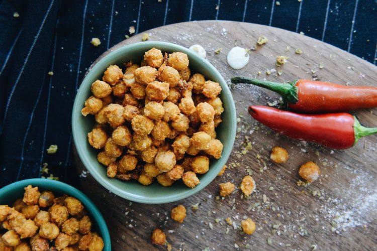 Beer Snack Crispy Bowl Chickpeas Close-up Crunchy Finger Food Food Food And Drink Healthy Eating No People Ready-to-eat Snack Table Vegan Snack