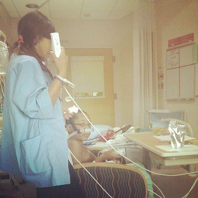 She's doomed. Mario Wii Seattlechildrenshospital Seattlechildrens floor river pneumonia hearttransplant heartdefect Chd donatelifetoday donatelife