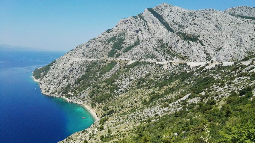 Landscape Sea Mountains Island Nature The Essence Of Summer Summer From My Point Of View Adriatic Sea Mountain Mountain View Landscape_Collection Mountain_collection Holidays In Croatia Beach Beach View Croatia Dalmatia Summer 2016 Water Brela  Boats⛵️ On The Way Holidays