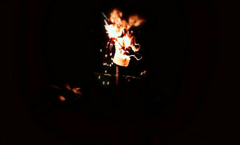 Burning Flame Night Exploding Heat - Temperature No People Fireball Outdoors Close-up
