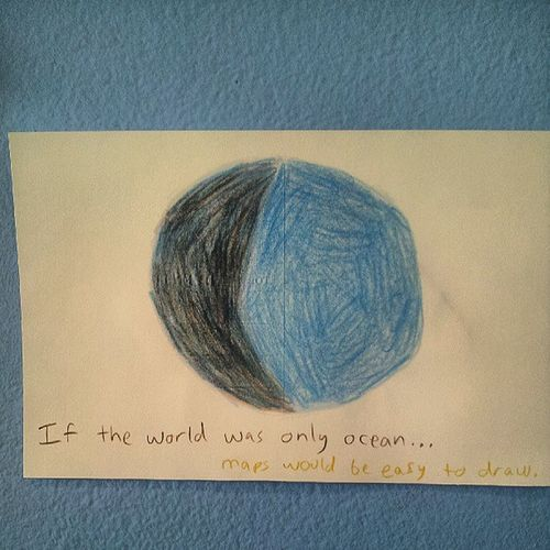 Kiddy Drawing of the World super Cute :)