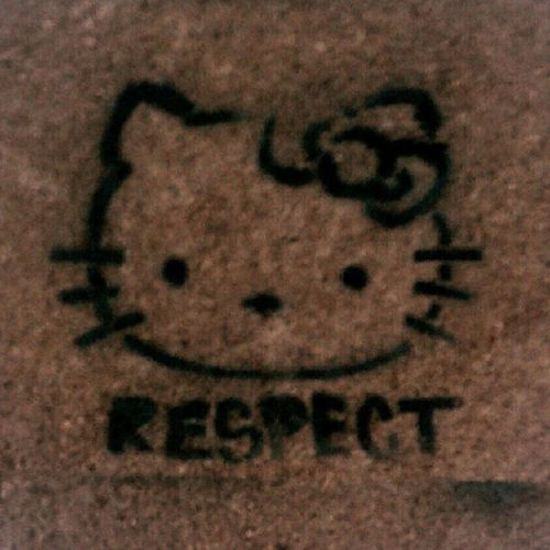 #Respect .... This goes out to the homegrown shallowlikeyou #streetart #losangeles style Hellokitty Capturedmoment Street Androidography Random CAallday  Graffiti Laallday Streetart Mobograf Beautiful Igroid Art Roidography Wall Andrography Android La Respect Awesomeshots Losangeles Interesting