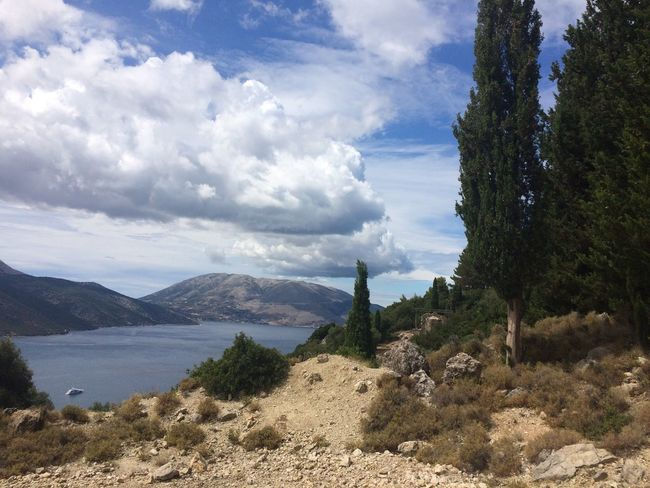 Cefalonia Grecia Sky Cloud - Sky Beauty In Nature Water Plant Mountain Tranquil Scene Scenics - Nature Tranquility Tree Nature Day No People Non-urban Scene Environment Land Landscape Lake Growth Mountain Range 43GoldenMoments Femalephotographerofthemonth Popular Photos