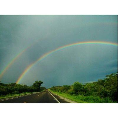 Arcoíris BR - 304 próximo a Aracati. Brasil Nordeste  Eutonanuvem
