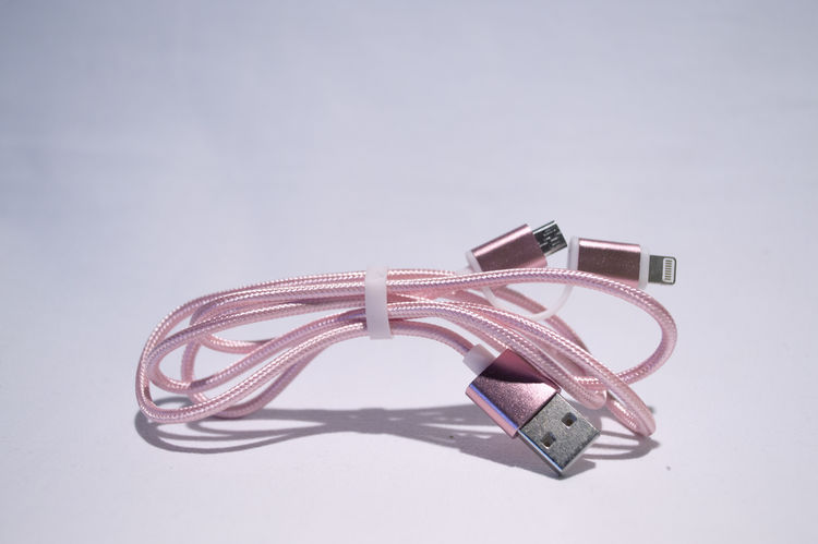 Android Apple Cable Cables Charging Close-up Day Ios Mini Usb No People Outdoors Phone Pink Sky Stationary USB