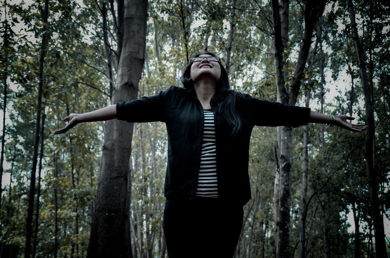 So glad to be there, on Your world. God 🙏 God Tree Portrait Forest Standing Spooky Front View Human Arm WoodLand Vampire Evil Horror