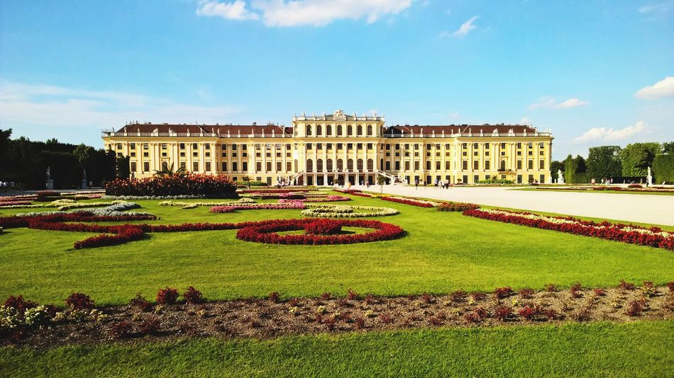 Schönnbrunn Architecture Traveling City Wien Vienna Sky Taking Photos City Life Building Nature Enjoying Nature Beatifulday Flowers Enjoying Life Your Ticket To Europe