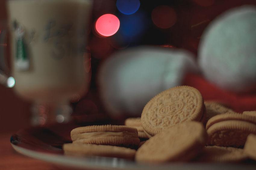 cookies for Santa EyeEm Selects Oreo Cookies For Santa Background Night Before Christmas Christmas Bokeh Christmas Tree Santa's Santa's Hat Christmas Holidays Santa's Treat For Santa Bokeh Treat Santa Snack Snack Eggnog Egg Nog Food Milk Cookies And Milk Milk And Cookies Indoors  Table No People Night Red Defocused Close-up