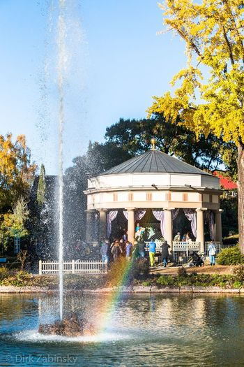 Fountain Water Rainbow Architecture Spraying Splashing