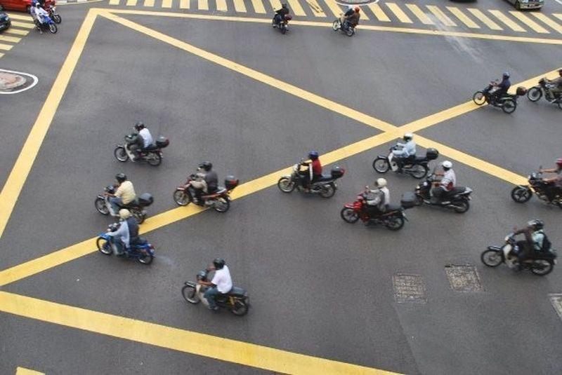 Kuala Lumpur Crossroads Scooter Ready Steady Go! The Street Photographer - 2015 EyeEm Awards