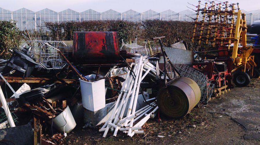 Abandoned Objects In Junkyard