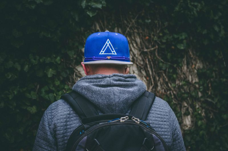 Never look back Portrait EyeEm Selects Rear View One Person Leisure Activity Lifestyles Clothing Men Real People Hat Tree Adult Nature Land Headshot Blue Forest Plant Focus On Foreground Outdoors Day Warm Clothing