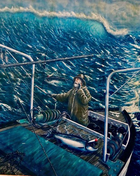 Mural of Fisherman Sea One Person One Man Only Outdoors Only Men Full Length Nautical Vessel Day Water Art Is Everywhere Men Adult Adults Only People Nature UnderSea EyeEmNewHere EyemeVision Beauty In Nature Power Of The Sea Storytelling Stormy Weather Boat Deck