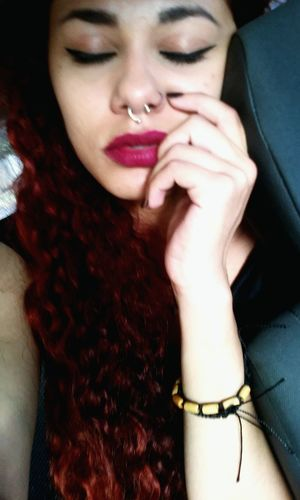 Sadness Sad Girl Crazzy Girl Badgirl Septum Peircing Redhead Batomvermelho