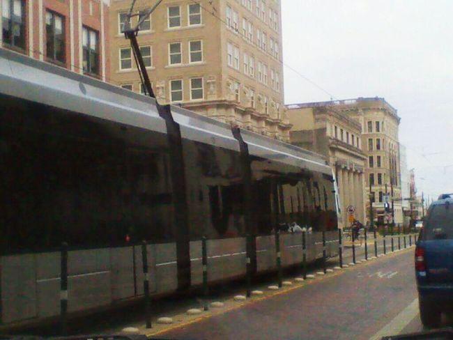 """""""Metro Rail"""" Day City Outdoors No People Sky Mode Of Transport EyeEmNewHereTransportation NTENSElifestyle NTENSEdesignz Car Point Of View Houston Downtown Houston Metro Metro Train"""