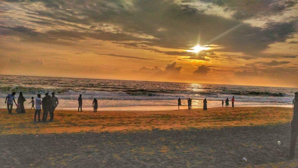 Beach Sea Sunset Horizon Over Water Outdoors Mobile Photo Orange Sky Clouds And Sky Evening Evening Sky