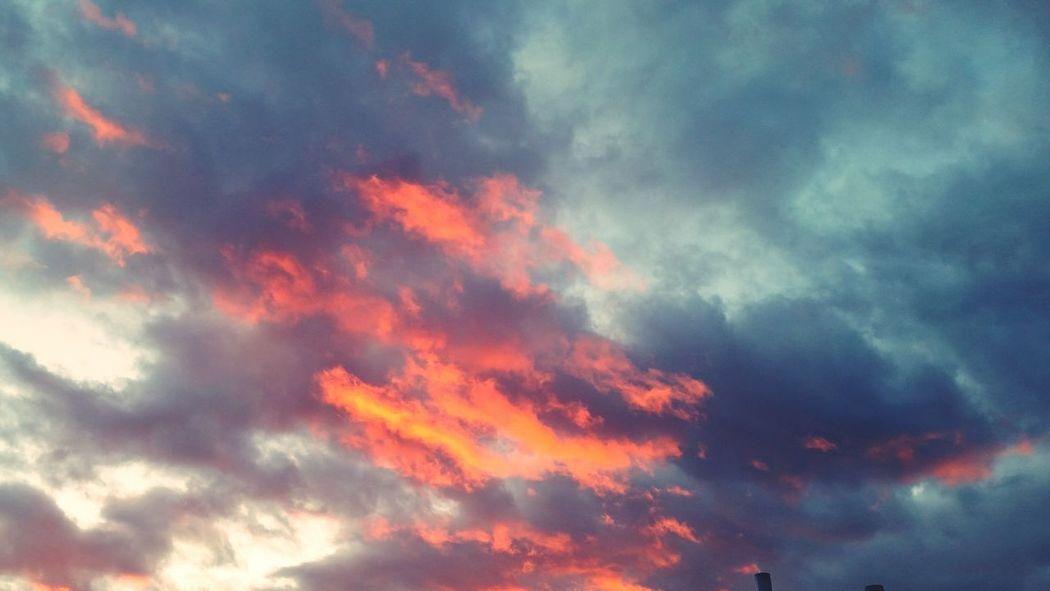 Sky clouds, red sky Dramatic Sky Cloud - Sky Flame Burning FireyGlow