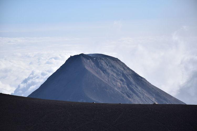 Guatemalan fuego volcano during eruption