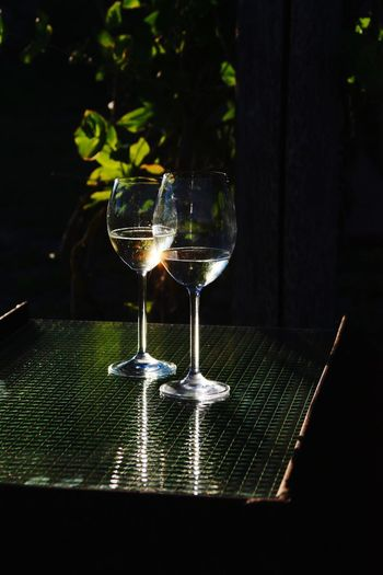 Food And Drink No People Wineglass Alcohol Drink Black Background Fruit Wood - Material Drinking Glass Wine Freshness Healthy Eating Food Close-up Indoors  Day Farewell Goodbye Evening Sun Tranquility Scene EyeEm Selects Romantic Couple Love Low Light Capture Tomorrow