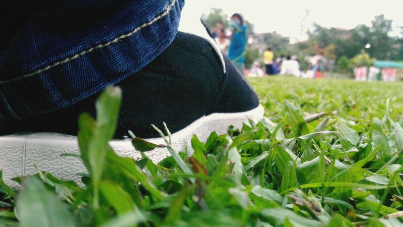 Sunday Evening Black And White Shoes Hangouts  Relaxing Moments Men Men Shoes Low Section Human Leg Close-up Grass EyeEmNewHere