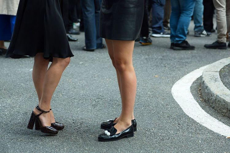 Girls' feet during Milan Fashion Week ss16 Design Designer  Fashion Feet Hills Legs Milan Fashion Week Shoes Streetphotography Style