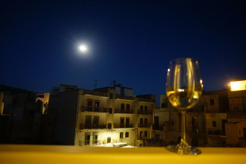 Alcohol SocialDrinking Social Issues Drinkingproblem Wineglass Relax Peopledrinking Night Moon Illuminated Architecture Building Exterior Built Structure No People