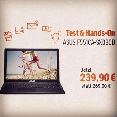 Noch ein günstiges Notebook zum Muttertag als Geschenk gesucht? Vielleicht ist das ASUS F551CA für nur 239€ genau das richtige für eure Mutter? Test und Hands-On-Video gibt es im Blog http://blog.notebooksbilliger.de/test-asus-f551ca-sx080d-einsteiger-notebook-mit-15-display/