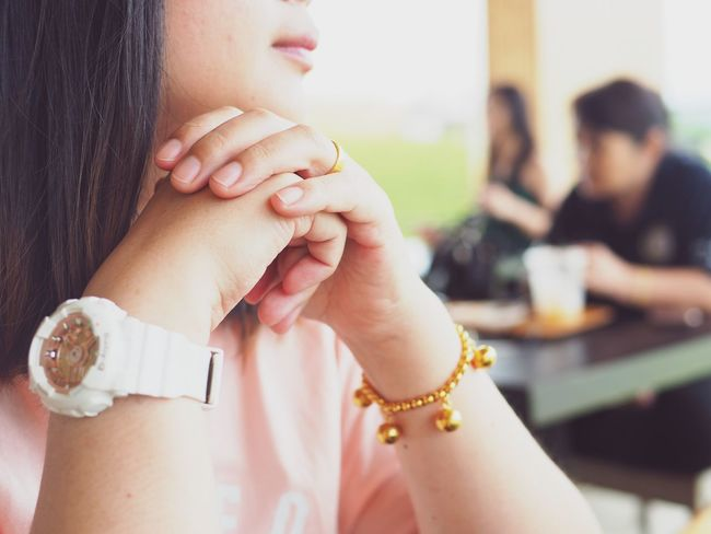 EyeEm Selects Women Adult Focus On Foreground Two People Real People Human Body Part Young Adult Hand Close-up Indoors  Togetherness Emotion Jewelry Females Love Bracelet People Human Hand Lifestyles Positive Emotion
