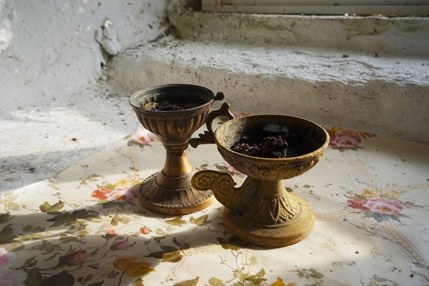 Church Censer No People High Angle View Still Life Day Sunlight Shadow Nature Close-up Ceramics