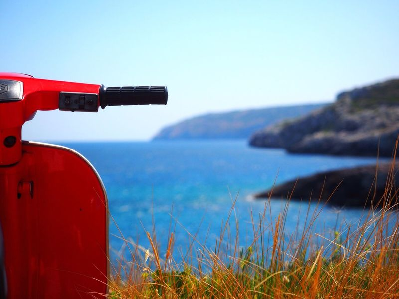 Summer in South Italy Sea Seaside Sea And Sky Vespa Enjoying Life Eye4photography  Beautiful View Summer Views My Best Photo 2015 The Tourist Landscapes With WhiteWall Sommergefühle