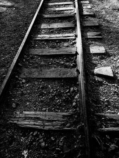Old Road Abandoned Day Metal No People Old Outdoors Rail Transportation Railroad Track Train - Vehicle Transportation Wood - Material