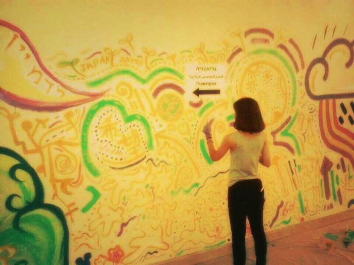 Wall Art Drawing Israel Japanes Girl i