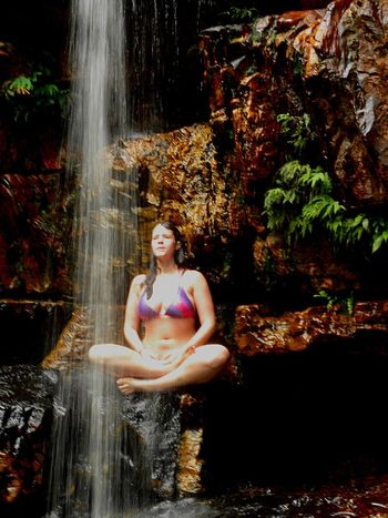 Beauty Waterfall Water Females Forest Levitation Ethereal One Person Outdoors Stream - Flowing Water Chapada Diamantina Bahia Brazil Amazing Things