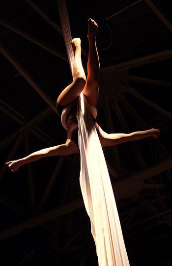 Woman Performing Acrobat