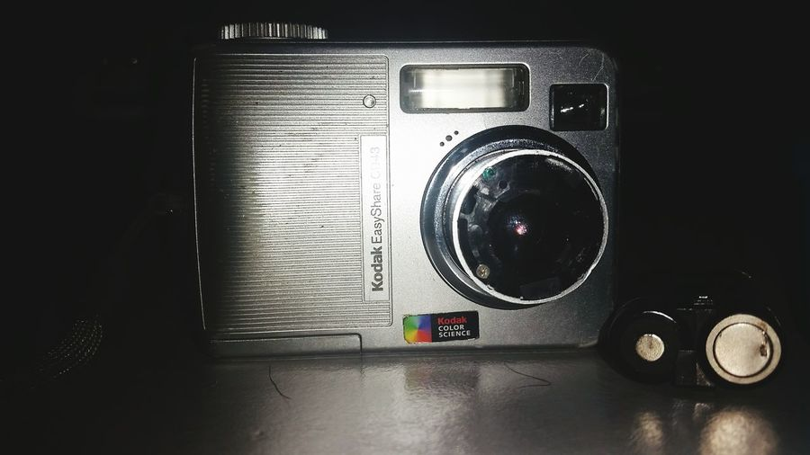 MY VERY VERY FIRST DIGITAL CAMERA, my daddy bought it for me on my 15th birthday... love you dad.. Digital Camera My First Digital Camera Kodak Film 13 Years Ago Still Works Movingforward Small EyeEm Gallery Old Vintage?
