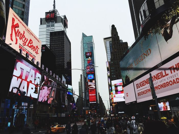 Time Square, New York New York Holiday POV Beautiful Amazing Ads People