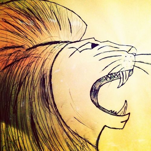 Lion Sketch Roaring Angry Revange Insta Picture Wooowww
