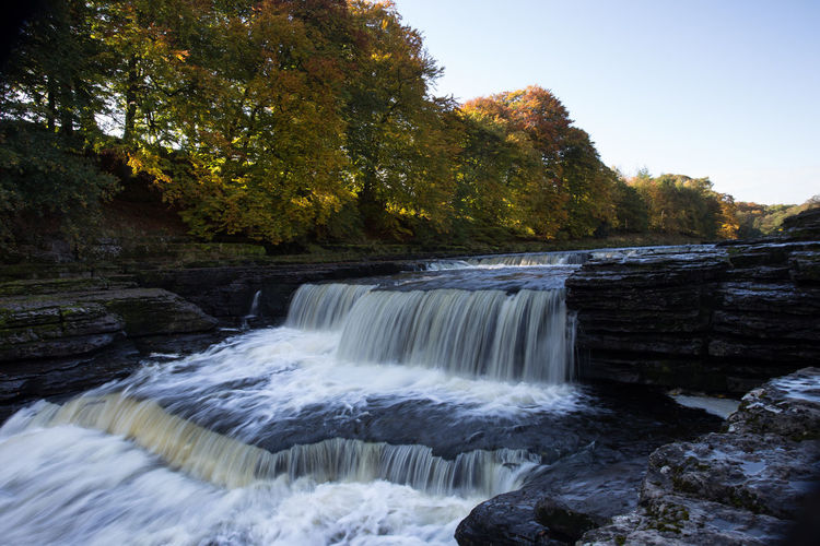 Lower Falls, part of Aysgarth Falls, North Yorkshire, England, UK Autumn Aysgarth Falls Copy Space Sunny Yorkshire Dales National Park Beauty In Nature Blurred Motion Day Flowing Flowing Water Long Exposure Lower Falls Motion Nature No People Outdoors Plant Power In Nature Rock Running Water Scenics - Nature Solid Tree Water Waterfall