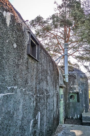 Built Structure Architecture Building Exterior Tree Building Plant House No People Day Nature Old Entrance Sky Wall - Building Feature Outdoors Residential District Wall Door Abandoned Window Stone Wall Bunker France 🇫🇷 Urbexexplorer Urbex