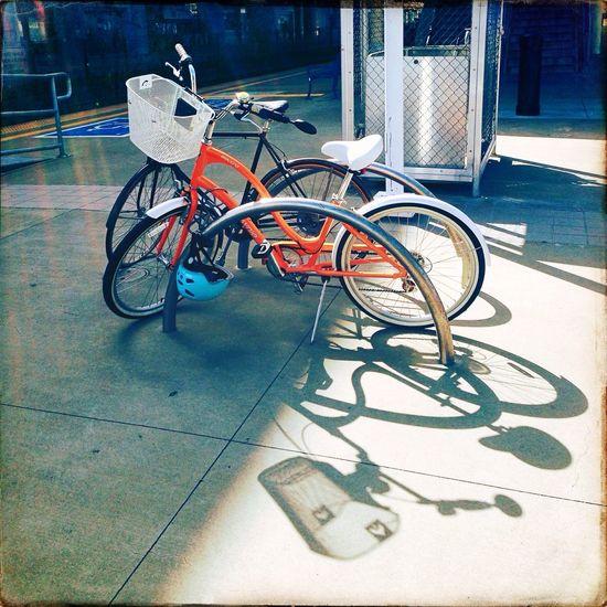 Bike Rack Public Transportation Walking Around Orange