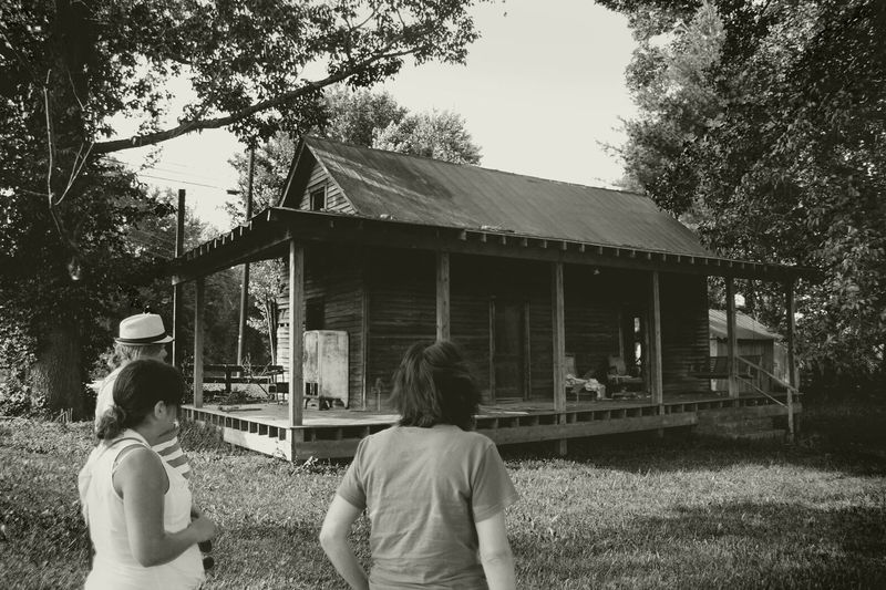 Abandoned B&w Black & White Bonding Exploring Friendship Growth Kentucky  Old House Old South Outdoors Porch Shack Young Women